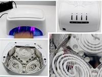 Free Shipping 3 - 7 days 60W High Powder 110v-240v Gel Nails LED Lamp eu plug uv with Fan and Auto Sensor, Timer