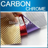 "23""x60"" 1.96x5FT Car Chrome Carbon Fiber Sticker Aluminum Sticker Car Wrap Sticker Mirror Film Polished Vinyl Car Carbon Fiber"