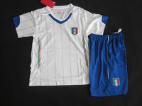 Italy Away 14 World Cup Nation Team A+++ Embroidery White Kids Children Soccer Jersey/ Uniform Sports Clothing Fans Version Kits