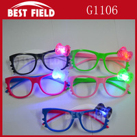 Free shipping 12pcs/lot  LED flashing glasses led glasses mask glasses  KT cat eyeglasses