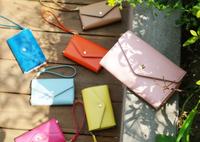 Korea Style Novel Crown Mobile Phone Card Holder Purse Wallet Smart Fold Pouch women clutch free shipping