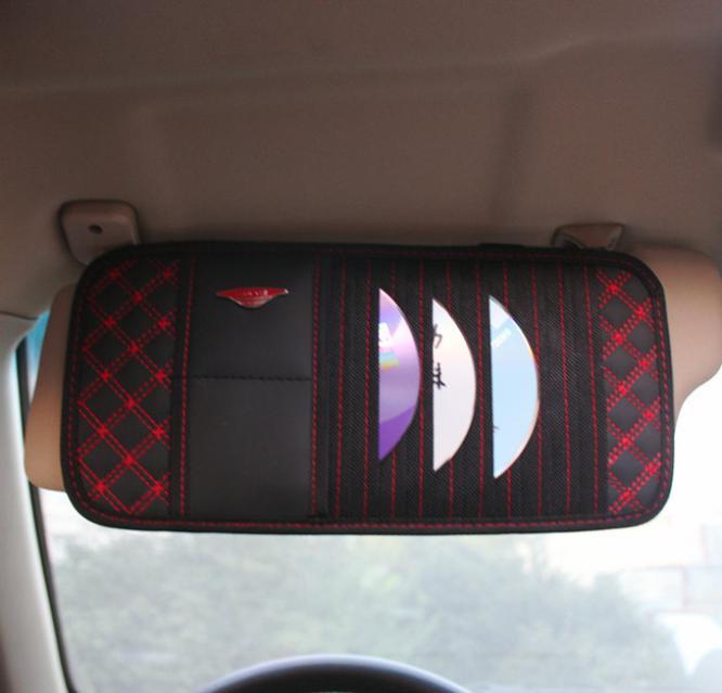 B194 High-grade multifunction iPhone holder car Creative New design daily Gift bag hang sun visor Storage Bag for car Organizer(China (Mainland))