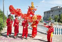 children size CHINESE DRAGON DANCE 5.5 M Folk Festival Celebration Costume 10 children to play