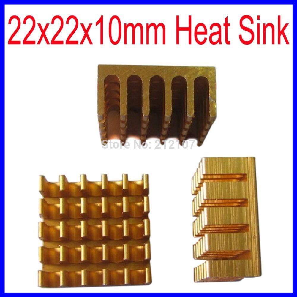 HeatSink Heat Sink Radiator 22x22x10mm Small Radiator - Golden(China (Mainland))