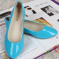 Summer new arrival 2014 candy color single shoes solid color multicolour gentlewomen flat heel female shoes flat