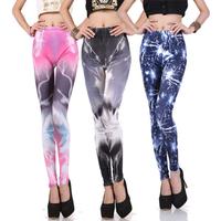 2014 Summer New Women's Leggings Lightning Stretch Pants Milk silk Pencil Pants Female Feet  KIKEY  Free Shipping P1039