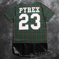 PYREX 23 2014 summer brand men's short sleeve shirt fashion Round neck t-shirt cotton casual tshirt hiphop tshirt unisex 200
