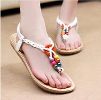 2014 Hot Bohemia flower all-match flip-flop sandals flat heel women's flat sandals female