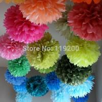Free Shipping  10 pcs 15cm(6inches) Tissue Paper Pom Poms Wedding, Birthday, Baby shower, Nurseries decoration