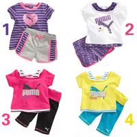 560,561,562Free shipment fashion kids summer suits 4 color Retail sales