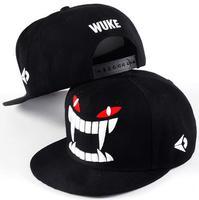 Hot Brand Fashion Snapback For Men Women Devil Teeth Black Harajuku Baseball Cap Adjustable Hat Drop Ship SCX163-M0664