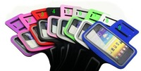 2pcs/lot,Waterproof Sport Gym ArmBand Case for Samsung Galaxy Note 2 N7100 running Armband Pouch Cover for galaxy note 3 N9000