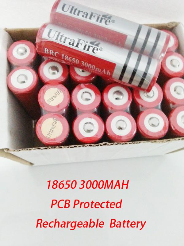 24pcs/лот ultrafire 18650 pcb защищены литий