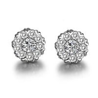 New High-quality polished Gold plated stud earrings Christmas present jewelry for women + free shipping