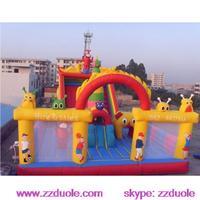 Infltable Trampoline Park With Slide