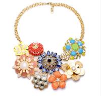 Fashion bohemia flower necklace women's neckless