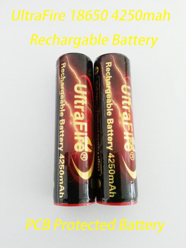 2шт/много 4250mah аккумулятор ultrafire 18650 3.7V