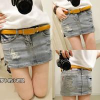 2014 spring women's plus size all-match denim short skirt bust skirt skorts summer