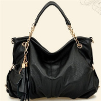 Free Shipping Tassel pendant   handbag  inclined shoulder bag