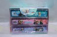 frozen snow Romance, frozen Elsa adventure, frozen olaf children with student Ruler, creative stationery