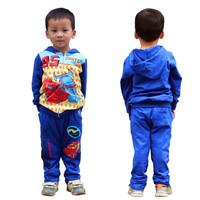 2014 winter designer children's apparel 3~7age kids car sports tracksuit pants two-pieces suit  1set retail free shipping