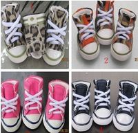 Free shipping retail Camouflage pink blue lepord sports pet dog puppy shoes pet casual shoes