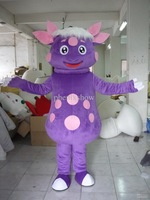 Hot sale 2014 fast shipping Frozen costume Frozen purple sheepMascot Costume for Adult Free Shipping