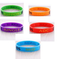 Hot Fashion & Hot LoL League of Legends 6 colors Wristband Bracelet 5pcs