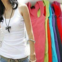 Unisex 2014 New Fashion Men Women Ladies Long Sexy Casual Summer Sleeveless Tank Tops Cami Cotton Waistcoat Vest T-Shirt