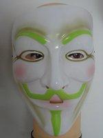 Free shipping for e-EMS Luminous 50 pcs/lot Guy Fawkes V Vendetta Team white  Masquerade Masks Halloween  Carnival Mask