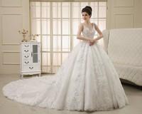 2014 quality crystal diamond long trailing wedding dress luxurious multicolour sparkling diamond long trailing wedding dress