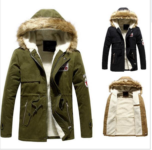 Winter Casual Canada Mens fur collar coat army green outwear coats military man jackets men winter jacket men coat Parka Coats(China (Mainland))