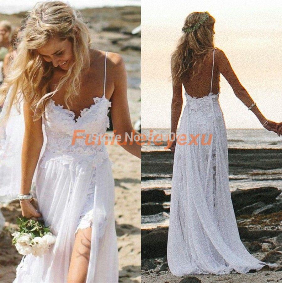 Wedding dresses lace chiffon bridal gown high low long dresses new jpg