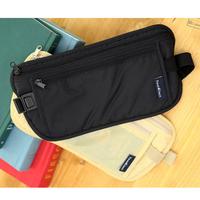 Travel Storage Bag Money Security Purse Waist Pack PurseMoney Coin Cards Passport Waist Belt Tickets Bag Pouch AB17E