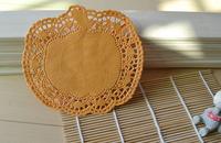"""2014 New Arrival! 6.5"""" Orange pumpkin shape Tableware decoration Paper lace placemat Paper doilies"""