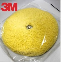 3M05705 Double faced Yellow 100% Lambswool polishing pad/Buffing Car polish Paint care Car care