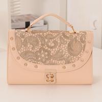 Women's handbag sweet gentlewomen multifunctional star portable one shoulder cross-body fresh print lace bag