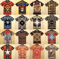 2014Summer Harajuku fashion women men Medusa/Leopard/Floral flowers/Yeezus/Paradise print 3d/Galaxy t-shirts tops tees plus size