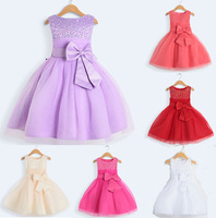 Flower Girl Dresses 2014 Baby Girls' Party Dresses for Kids  Children Evening Gowns Dress Purple Red Champagne Hot pink