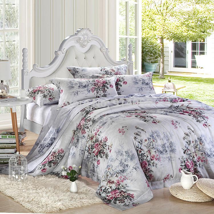 Têxteis-lar linho de seda de luxo da cama conjunto de 4 peças de cama conjunto de folhas de cama folha de edredão / colcha / edredom lençóis cobertura colcha(China (Mainland))