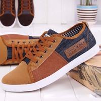 2014 Fashion Men's casuals canvas sneakers for men Shoes male breathable patchwork plimsolls lace-up platform gumshoes RM-289