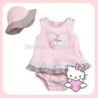 Children 2014 summer short beautiful girls 100% cotton Baby clothing summer body girls baby clothes new BB Summer babysets