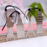 BF015  New bookmark Famous exquisite architectural metal bookmark 12*6.5cm Free shipping