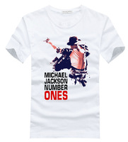 Michael JACKSON White T-shirt Hiphop Men Cotton T shirt Personality Tops Tee