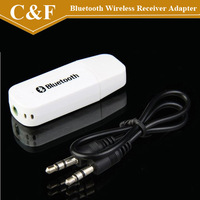 Bluetooth Wireless Receiver Adapter USB Dongle 3.5mm Stereo Music Receiver for Speakers Speaker Black & White + Freeshipping