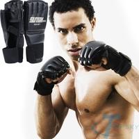 Extension wrist leather MMA Training Half Mitts Sparring Boxing Gloves Gym guantes de boxeo guantoni da boxe  luvas de boxe