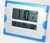 M5/26*20*2.7cm with day-date-time display digital LCD wall clock good quality square shape clock for living room