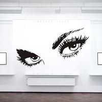 Audrey Hepburn Black Sexy Eyes Wall Stickers Large Size Vinyl Art Stiker Decal Home Decoration