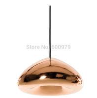 Free Shipping diameter 30cm  Tom Dixon Void Copper Brass Bowl Mirror Glass Art Pendant Lights For Wholesale