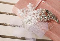 Lace Flower Crystal Hair Jewelry Rhinestone Pearl Wedding Hair Accessories Bridal Head Jewelry Headpiece Headwear 2014 WIGO0302